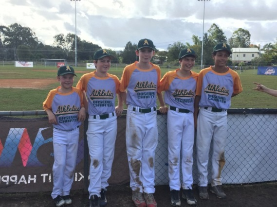 Melbourne boys representing Eastern Athletics at the Australian Little League Championship