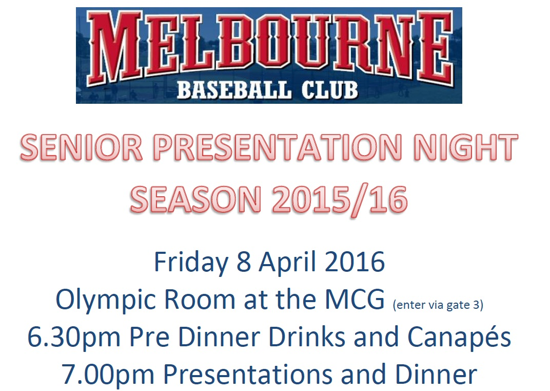 2015/16 Presentation Night
